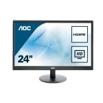 AOC E2470SWHE 23.6 LED 16 9 1920X1080 5MS 2 HDMI VESA BLACK