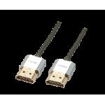 LINDY LINDY41671 CAVO SLIM CROMO HDMI HIGH SPEED A A 1M