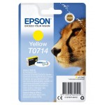 EPSON C13T07144012 CARTUCCIA ULTRA T0714 GHEPARDO  55 ML GIALLO