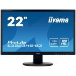 IIYAMA E2283HS-B3 21,5  1920X1080, 250CD/M2, SPEAKERS, VGA,