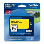 BROTHER TZE661 LAMINATO DA 36 MM  8 M  NERO GIALLO