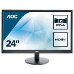 AOC M2470SWH 23 6   LED MVA  16 9  1920X1080 5MS 2 HDMI MULTIM