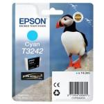 EPSON C13T32424010 CARTUCCIA HI-GLOSS2 T3242 PUFFIN  140 ML CIANO