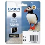 EPSON C13T32484010 CARTUCCIA HI-GLOSS2 T3248 PUFFIN 140 ML NERO MATTE