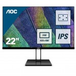 AOC 22V2Q 21.5  16 9 1920X1080 75HZ 250 CD HDMI DISPLAYPORT