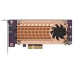 QNAP QM2-2P-244A DUAL M.2 22110/2280 PCIE SSD  CARD (PCIE GEN2 X4)