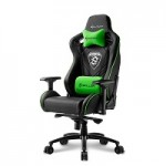 SHARKOON SKILLER SGS4 BLACK/GREEN GAMING SEAT SYNTHETIC LEATHER 4D ARM COMFORT-SIZE
