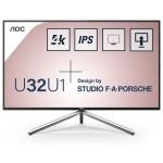 AOC U32U1 31.5  16 9 2560X1440 IPS 350CD/M2 HDMIX2 DP