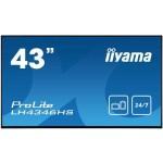 IIYAMA LH4346HS-B1 43  1920X1080,IPS PANEL,VGA, DVI-I, HDMI(2X),DP