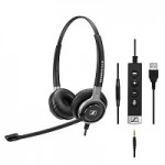 SENNHEISER SC 665 USB WIRED BINAURAL UC HEADSET WITH 3.5 MM JACK AND USB