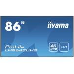 IIYAMA LH8642UHS-B1 86  3840X2160 IPS VGA DP HDMI 500CD/M2 RJ45 18/7H