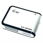 I-TEC USBALL3-W USB 2.0 ALL-IN ONE READER - WHITE/SILVER