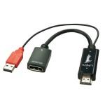 LINDY LINDY38147 COVERTITORE HDMI A DP 4K 30HZ. ALIMENTAZIONE USB