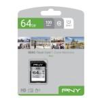 NVIDIA BY PNY P-SD64GU1100EL-GE 64GB PNY SD ELITE CLASS 10 UHS-I U1 100MB/S