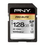 NVIDIA BY PNY P-SD128U3100PRO-GE 128GB PNY SD PRO ELITE CLASS10 UHS-I U3 100-90MB/S