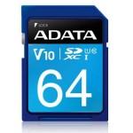 ADATA TECHNOLOGY B.V. ASDX64GUICL10-R ADATA SDXC 64GB UHS-I CL10 V10 100-25MB/S