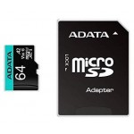 ADATA TECHNOLOGY B.V. AUSDX64GUI3V30SA2-RA1 ADATA MICRO SDXC 64GB UHS-I U3 V30S A2 100-75MB/S