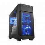 SHARKOON V1000 WINDOW MINI-ATX. 2XU3. 3X120 LED. FINESTRA LATERALE