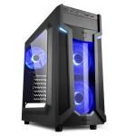 SHARKOON VG6-W BLUE VG6-W ATX MIDI TOWER