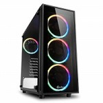 SHARKOON TG4 RGB 2XU3.VETRO TEMP. 4X120.ARGB RING FAN.ARGB CONTR.