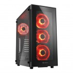 SHARKOON TG5 GLASS RED 2XU2. 2XU3. VETRO TEMPERATO. 4X120 LED