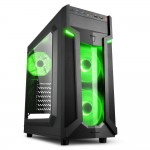 SHARKOON VG6-W GREEN VG6-W ATX MIDI TOWER
