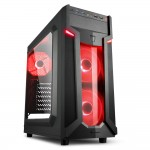 SHARKOON VG6-W RED VG6-W ATX MIDI TOWER