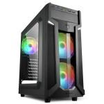 SHARKOON VG6-W RGB 2X U2, 2X U3, 3X 120LED FAN, RGB CONTROLLER