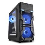 SHARKOON VG7-W BLUE 2X U3. WINDOW. 3X 120 LED
