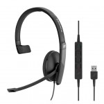 SENNHEISER SC 130 USB SINGLE-SIDED USB HEADSET WITH IN-LINE CALL CONTROL