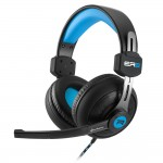 SHARKOON RUSH ER2 BLUE STEREO HEADSET. 2X 3.5 MM PLUG