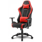 SHARKOON SKILLER SGS2 BLACK/RED GAMING SEAT FABRIC CLASS-4 GASLIFT3D ARMREST 60MM