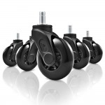 SHARKOON SW10 RUOTE PER SEDIE GAMING 75 MM. DOUBLE BALL BEARING