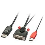 LINDY LINDY41978 Cavo DVI-D - DisplayPort 3m