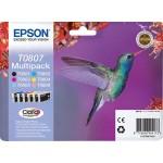 EPSON C13T08074011 MULTIPACK 6 CARTUCCE T0807 COLIBR  PHOTOGRAFICO