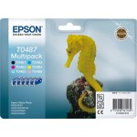 EPSON C13T04874010 MULTIPACK 6 CARTUCCE T0487 CAVALLUCCIO MARINO