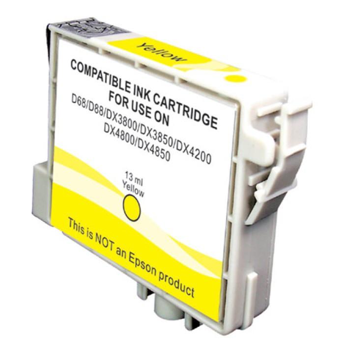CARTUCCIA COMPATIBILE EPSON STYLUS D68/D88/DX3800/DX4800 T0614 GIALLO