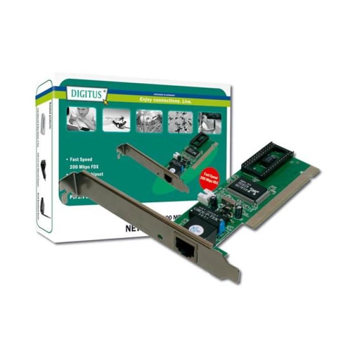 SCHEDA AGGIUNTIVA DI RETE PCI 10/100 RJ45 FUNZIONE WOL (WAKE ON LAN)