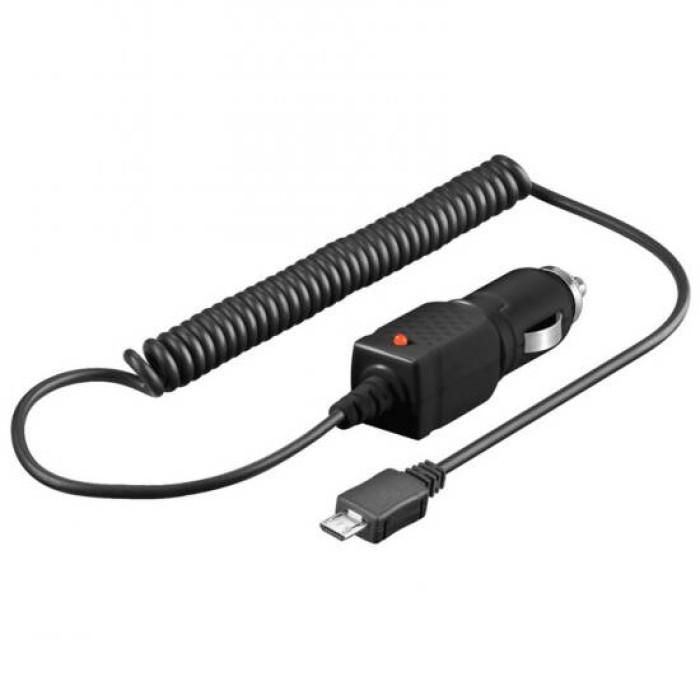 CARICABATTERIA DA AUTO 1A MICRO USB CON CAVO 1,5 MT 12-24 VOLT