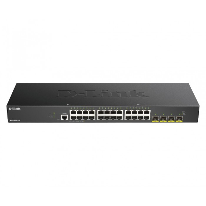 D-LINK DGS-1250-28X 24-PORT SMART MANAGED SWITCH WITH 4X 10G SFP
