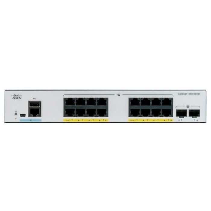 CISCO C1000-16P-E-2G-L CATALYST 1000 16PORT GE. POE. EXT PS. 2X1G SFP